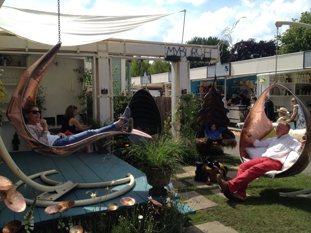 Myburgh Designs stand at Chelsea Flower Show