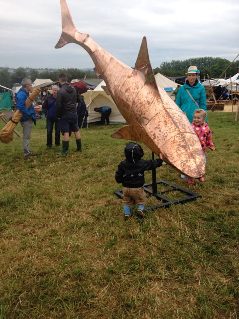 Glastonbury Shark Sculpture